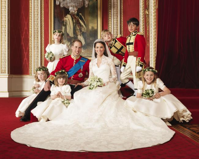 Royal Wedding: A Day To Remember: Duke and Duchess of Cambridge with bridesmaids and pageboys