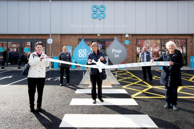 Retired staff members Margaret Hardy, Brenda Hocking and Mary Hepton open the new Co-op store in Murton, County Durham Pictures: UNP/JOHN MILLARD