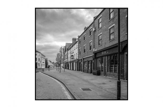 Bishop Auckland town centre, with closed club Monacos   Picture: JOHN ALDERSON