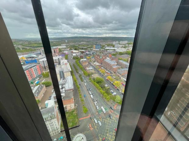 The Northern Echo: The view from 3Sixty, which shares a similar view to the penthouse Picture: JIM SCOTT