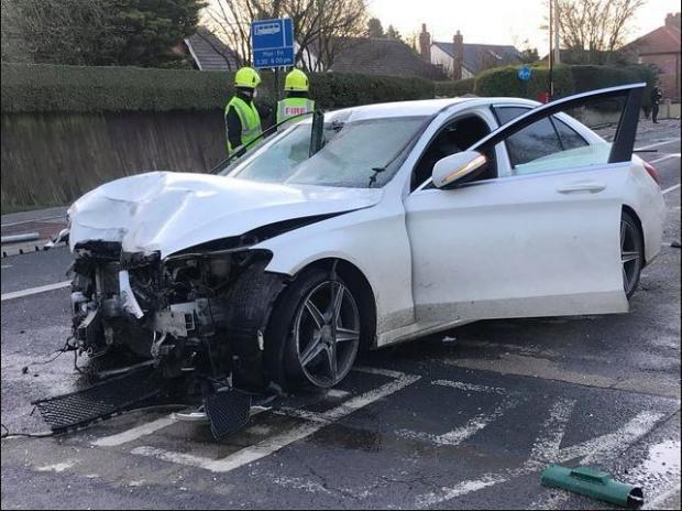 The Northern Echo: Summergill's damaged Mercedes