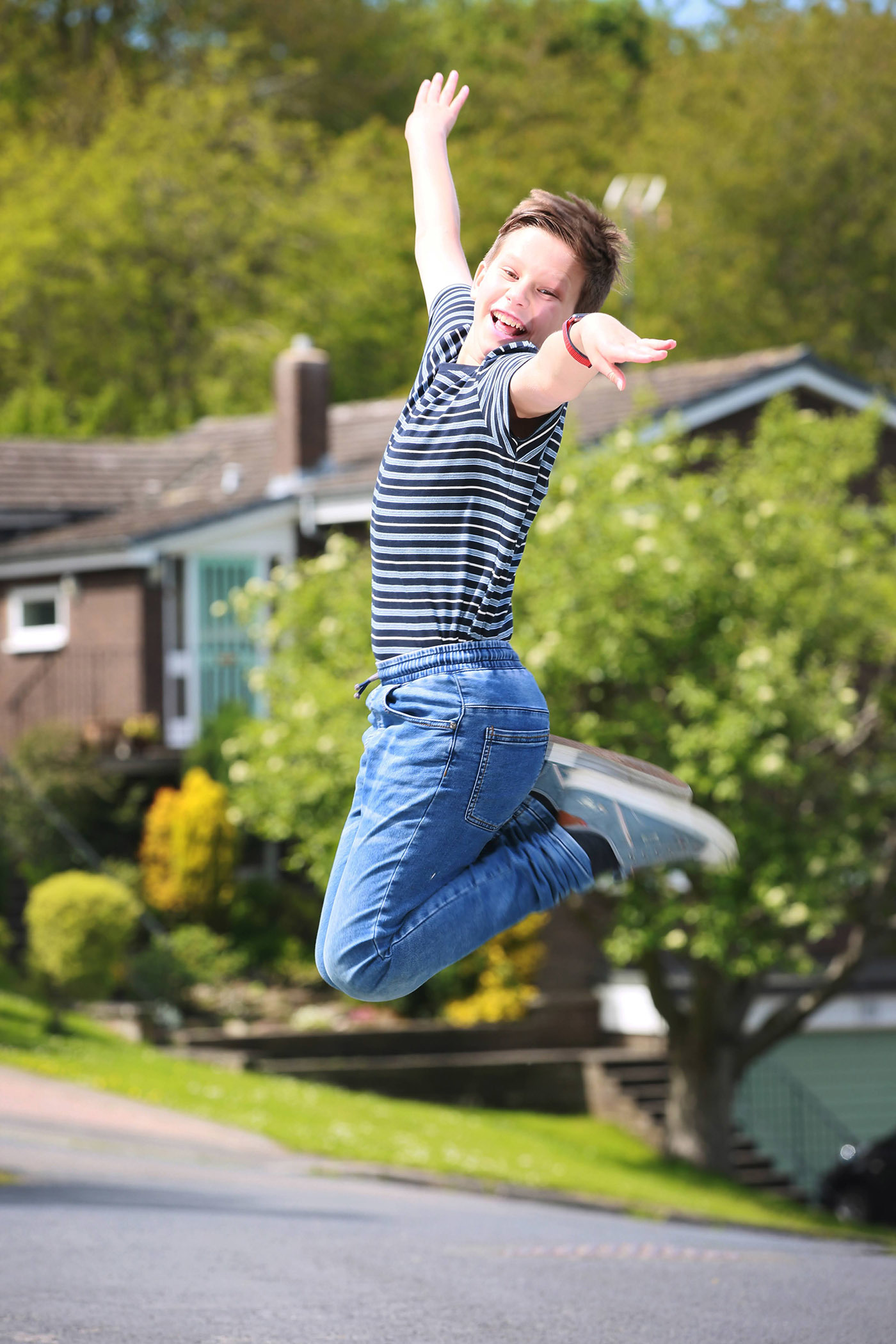 Adam Sangster 13 of Durham who stars in Henrietta Photo: SARAH CALDECOTT