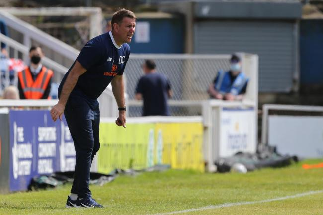Dave Challinor takes his Hartlepool United players to Stockport County for a place in the National League play-off final. PICTURE: MARK FLETCHER.