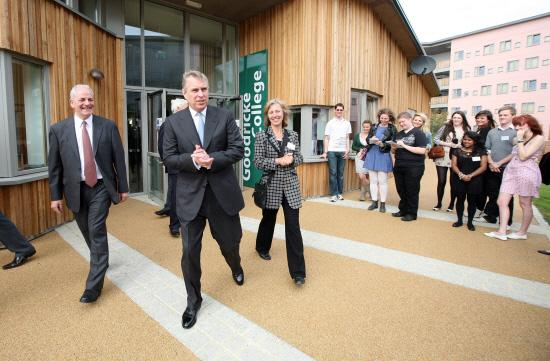 ROYAL VISITOR: The Duke of York at the official opening of the University of York's Goodricke College