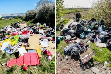 Top 10 areas in Darlington for fly-tipping
