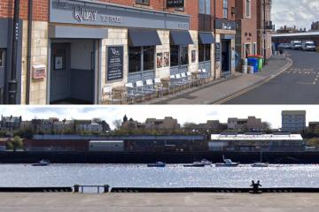 Northumbria Police say several drinkers have jumped into the Tyne
