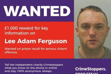 £1k Crimestoppers reward for wanted Lee Ferguson of Wallsend