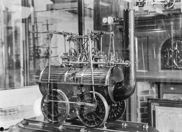 The Northern Echo: A model of Locomotion No 1 in the Tubwell Row museum. Picture from the Gordon Coates collection, courtesy of Peter Giroux