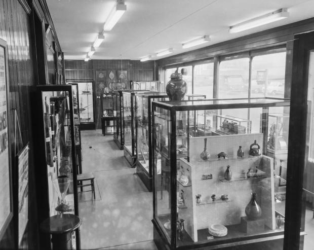 The Northern Echo: Inside Darlington museum on Tubwell Row. Picture from the Gordon Coates collection, courtesy of Peter Giroux