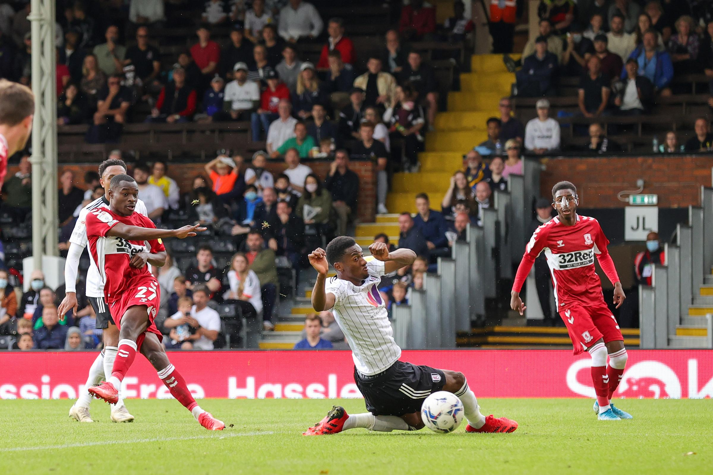 Marc Bola second half strike earns Boro 1-1  draw with Fulham