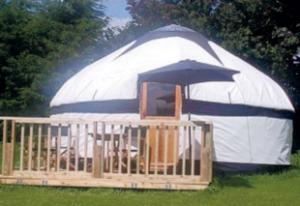 IN TENTS: A yurt with its own decking area