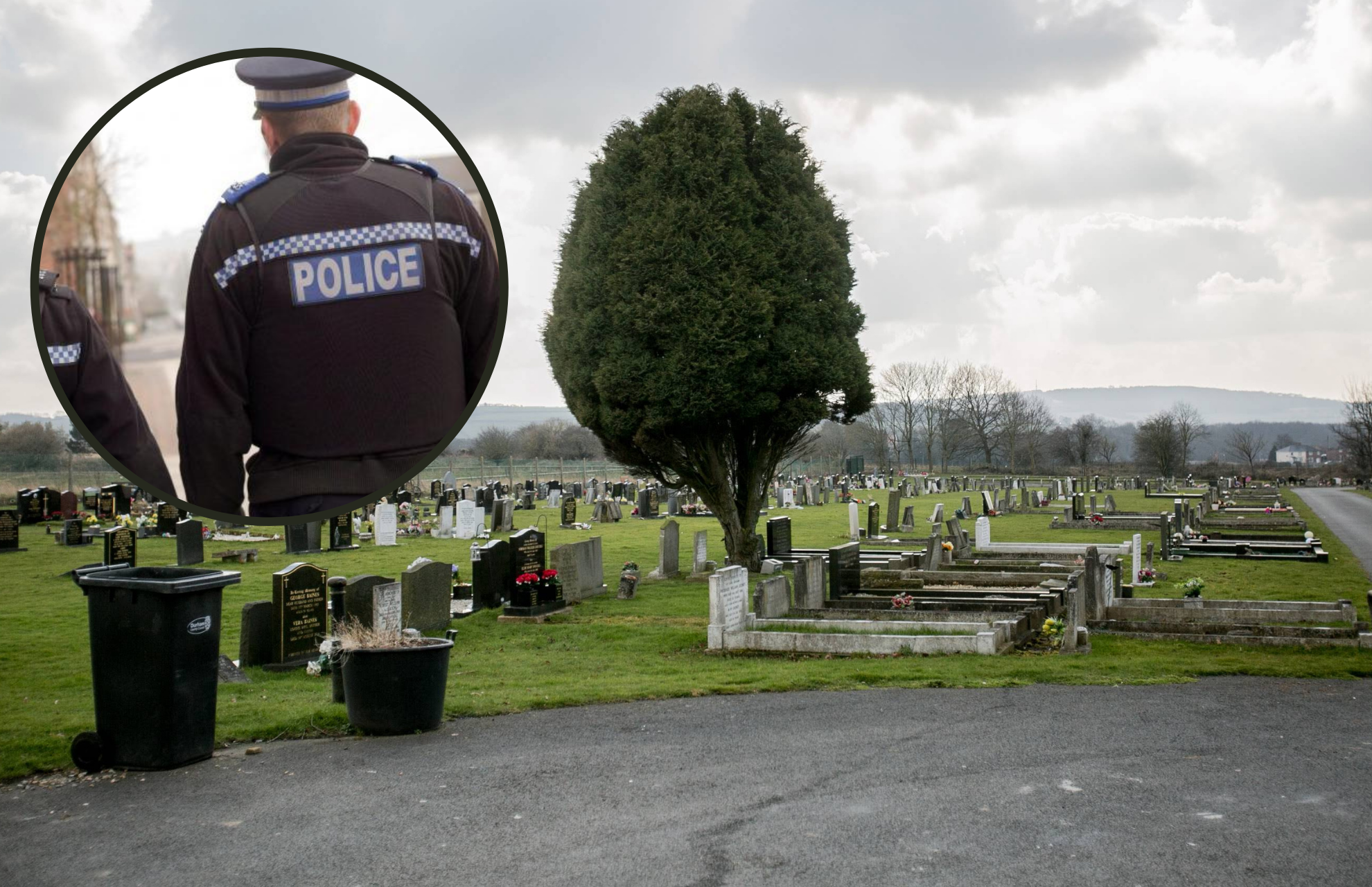 What one youth did when police found gang drinking in County Durham cemetery