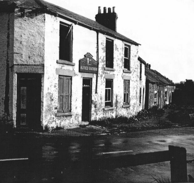 The Northern Echo: The Pot and Glass on Tollhouse Road closed in 1938 and was demolished in 1950. The name of the last landord, Alfred Southern, can be seen above the gate.  Image courtesy of Michael Richardson's Gilesgate Archives