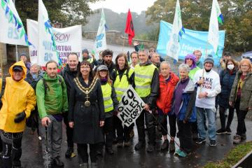 Darlington welcomes campaigners on route to COP26