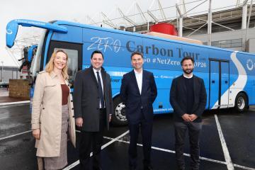 Zero carbon bus rolls into region as part of net zero event