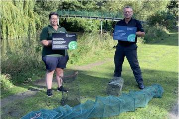 Illegal traps found in River Skerne, Darlington