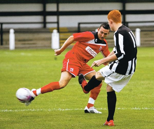 KICK-OFF: Quakers' Paul Arnison, pictured versus Spennymoor in pre-season, plays today
