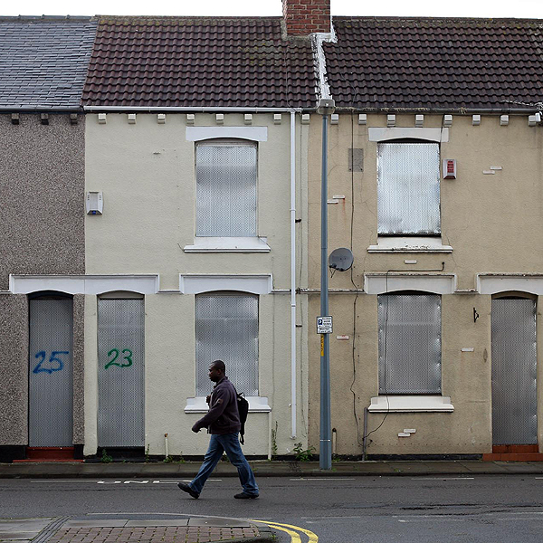 Boarded up houses in Gresham, Middlesbrough, which is to receive lottery-funded help to tackle youth unemployment