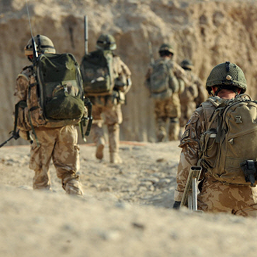 BRAVE: Soldiers from 3 Rifles and the Afghan army on patrol in Sangin