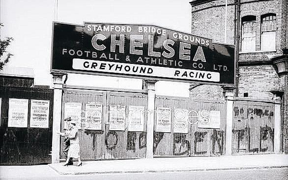 The Northern Echo: OLD DAYS: The entrance to Stamford Bridge in the 1960s, when the ground was also used as a greyhound track