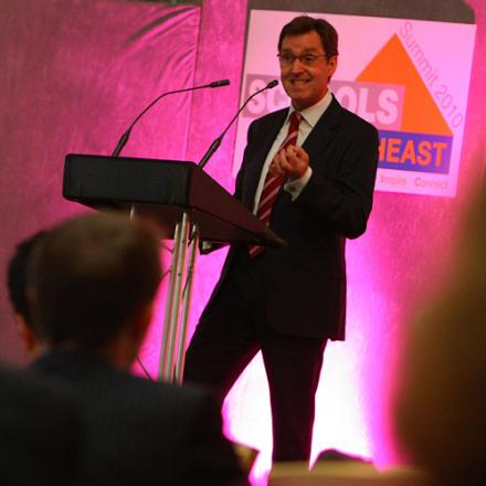 HIS OWN IDEAS: Alan Milburn delivers a keynote speach to the Schools North-East conference at Wynyard Hall