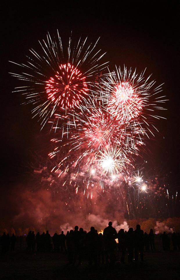 SUPER SHOW: The Darlington fireworks display in its full glory