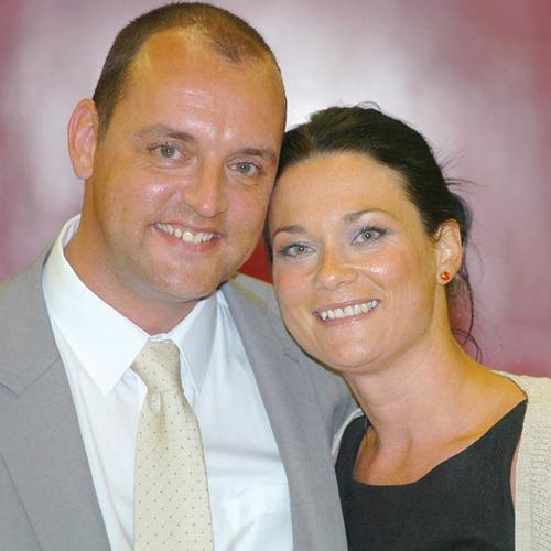WORLD HONOUR: Stuart Drummond and his wife, Rebecca