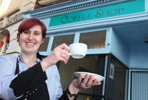 STIRRING THOUGHTS: Annabel Townsend outside her cafe