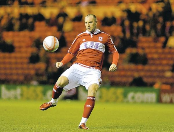 ON TARGET: Boro striker Kris Boyd scores on Tuesday – his first strike since November