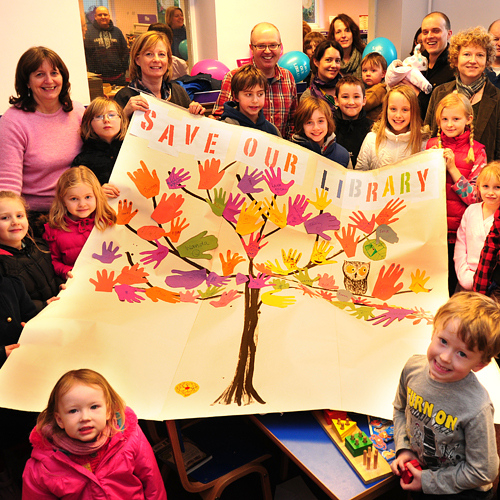 PUBLIC PLEA: A Save Our Library event at Easingwold library earlier this year.