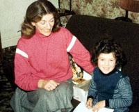 Face of a killer:  four-year-old Luoisa Ovington, with her mother, Mary Khelifati, whom she saw murdered