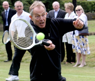 Tony Blair proves his fitness