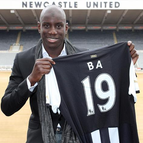 ENGLISH ATTRACTION: Paris-born Demba Ba has spoken enthusiastically of his affection for English football.