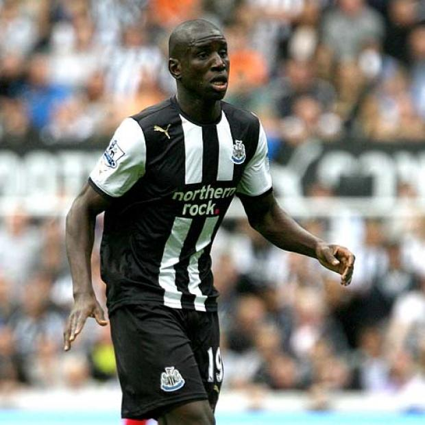 AFRICAN CONTINGENT: First team regulars Demba Ba and Cheik Tiote were noticeably absent on Saturday, while new signing Papiss Cisse was also unavailable