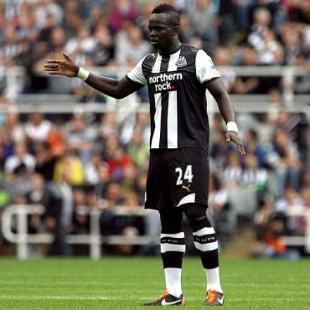 RETURN: Cheik Tiote has been rated as doubtful for Monday's trip to Stoke City but Magpies are confident of a quick comeback