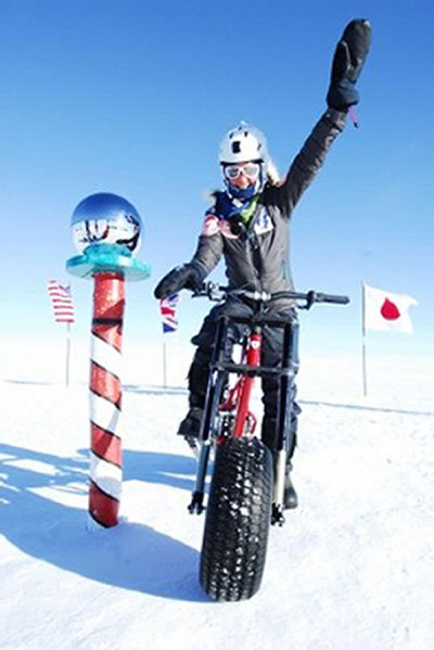 ADVENTUROUS: Blue Peter Helen Skelton during her South Pole quest