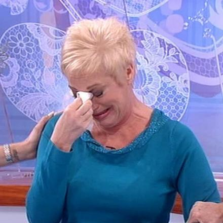 BLUBBATHON: Denise Welch lets it all out on the TV programme Loose Women