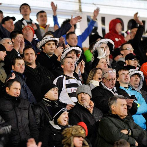 FAN OWNED: Darlington fans at the Fleetwood game