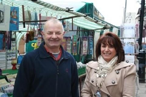 MARKETING TOOLS: Superintendent Phil Matthews, with Bedale mayor Amanda Coates