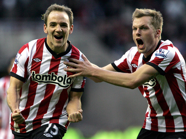 READY FOR ACTION: David Vaughan, left, could replace Lee Cattermole during the Sunderland captain's suspension