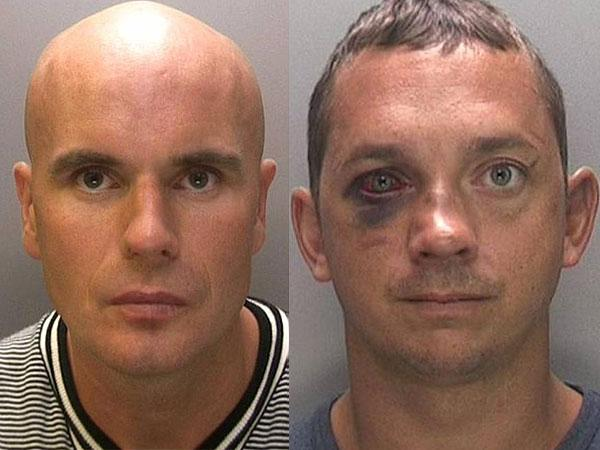LOCKED UP: Lee Wildman and Adrian Stanton