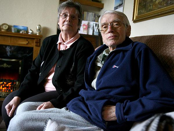 TRAUMA: Jane and Brian Croshaw, who are without a phone line or internet connection after thieves stole copper cable