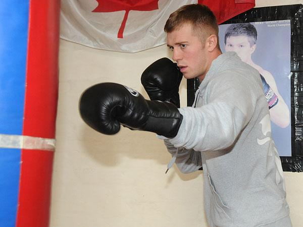 The Northern Echo: DREAMS OVER: Warren Baister at Sunderland Boxing Club
