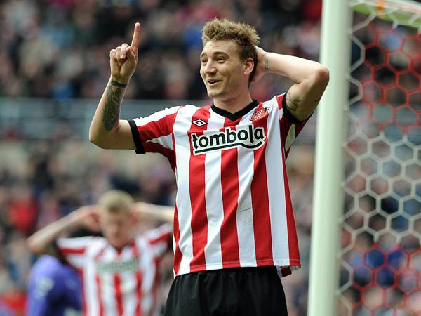 Striker Nicklas Bendtner is currently on loan from Arsenal