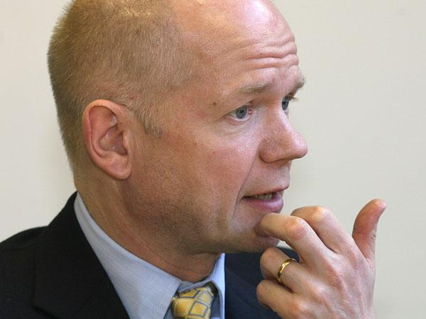 SUPPORT: Richmond MP William Hague, who has backed a move to examine maternity and paediatric services at the Friarage Hospital, Northallerton.