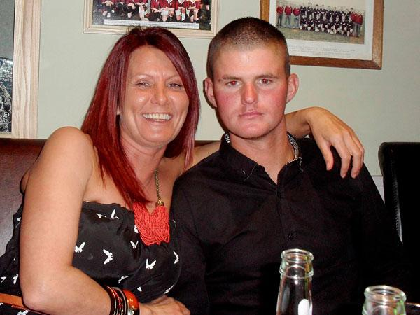 Bobby Turnbull with his mother Alison, who was shot dead in the attack