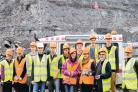 SITE EXPEDITION: Students from Queen Elizabeth Sixth Form College, in Darlington, during their visit to Shotton surface mine