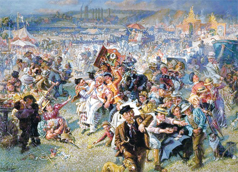 The Northern Echo: William Irving's painting of the Blaydon Races