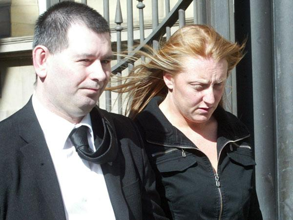 GUILT ADMITTED: Brian Howes, with his estranged wife, Kerry Ann