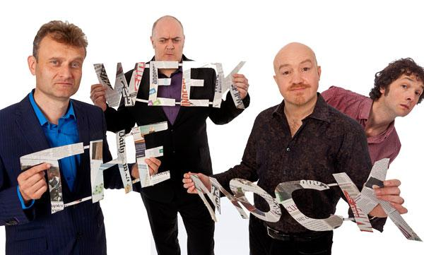Hugh Dennis, Dara O Briain, Andy Parsons and Chris Addison